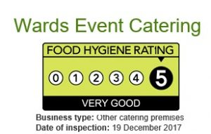 Wards Event Catering 5 Star Hygiene Rating